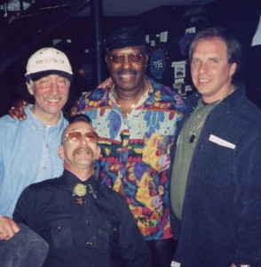 Merl Saunders with Boots Jaffe, Paul Grapel and Merl's attorney
