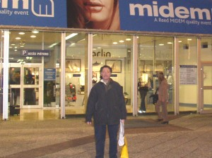 Bruce at Midem, Cannes, France 2005